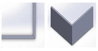 Edge Finish Chamfered Edge Beveled Edge Radius Corners